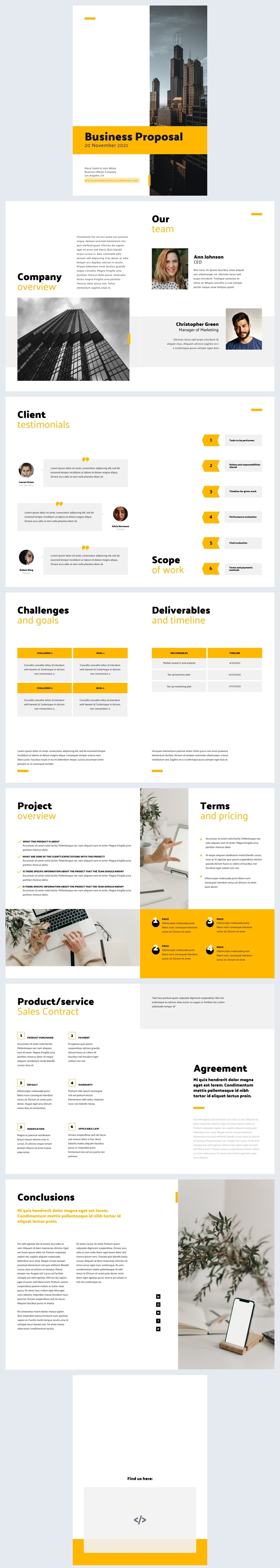 Free Business Proposal Sample Design Example
