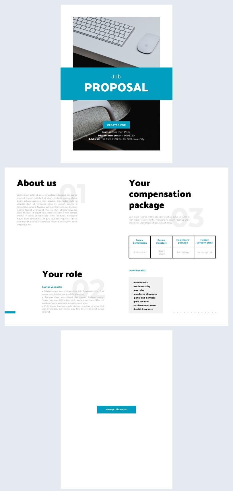 Free Job Proposal Example Design Inspiration