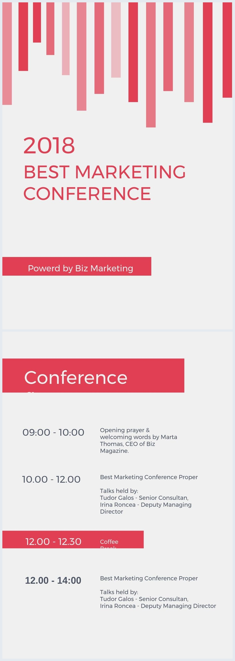 Conference Agenda Example