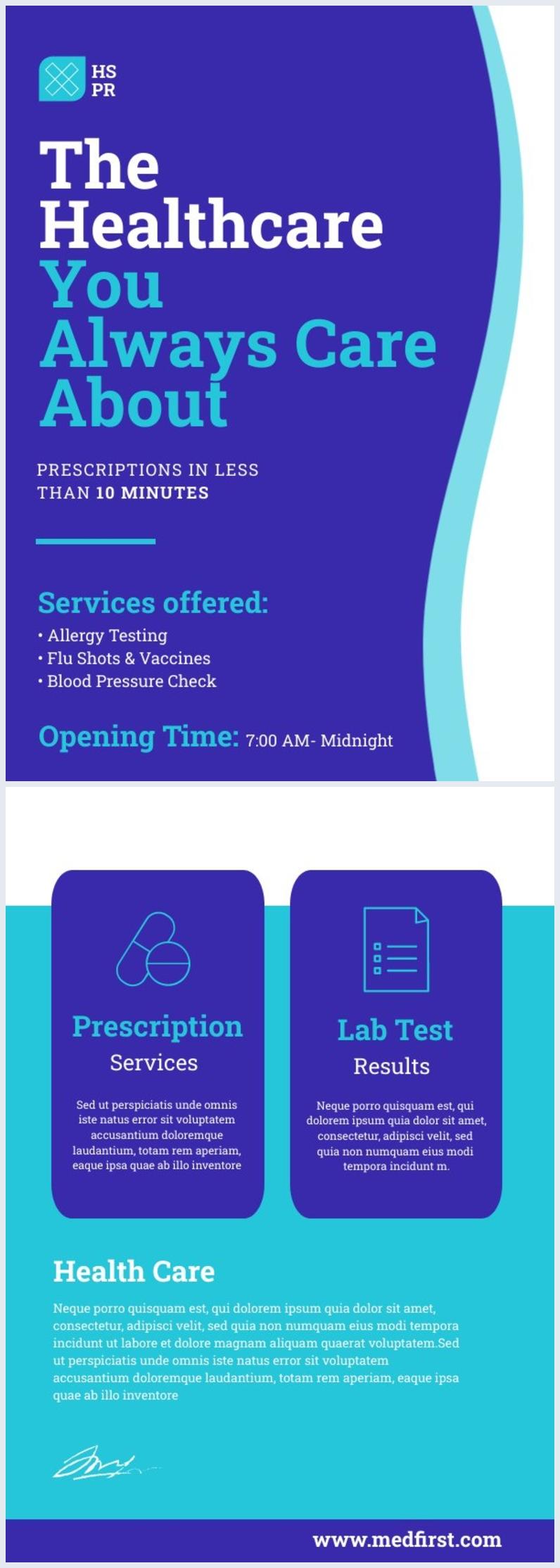 Medizinische Flyer-Design-Vorlage