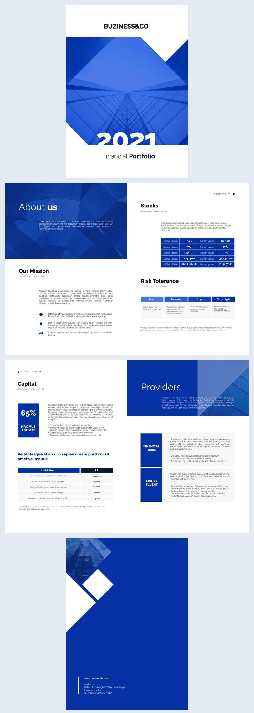 Geschäftliche Finanzportfolio-Design-Idee
