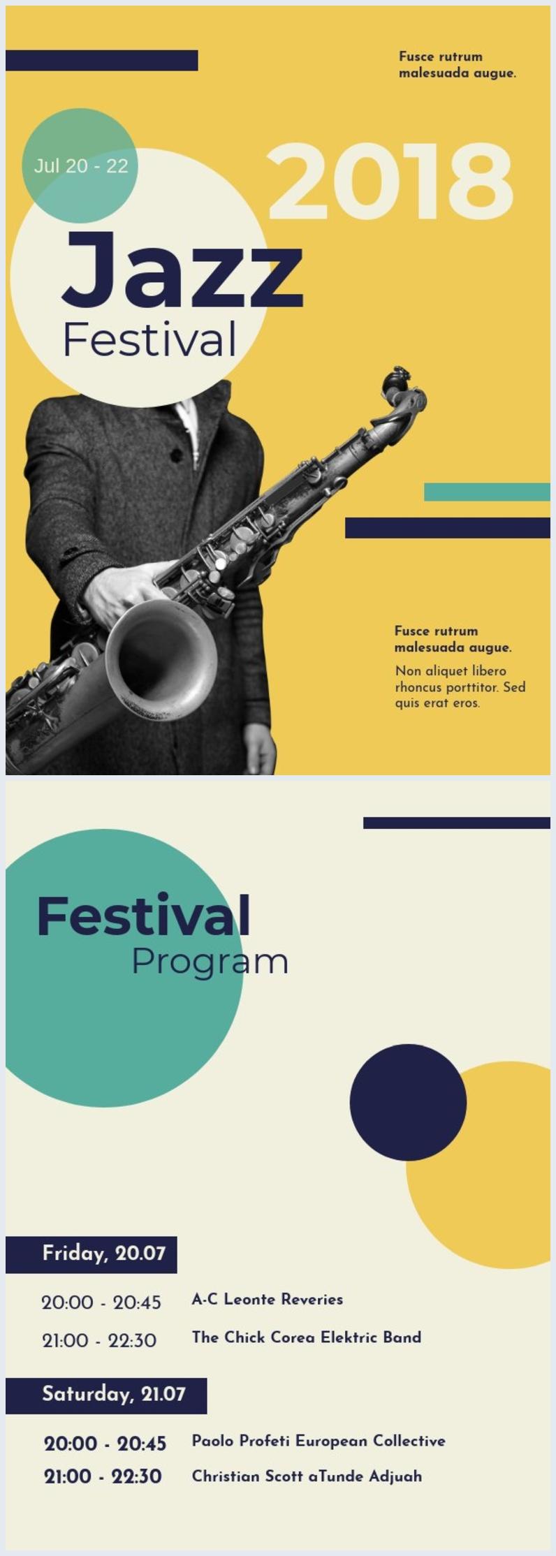Jazz Music Flyer Design