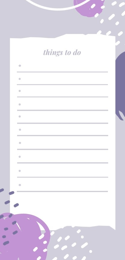 Free To Do List Design Example