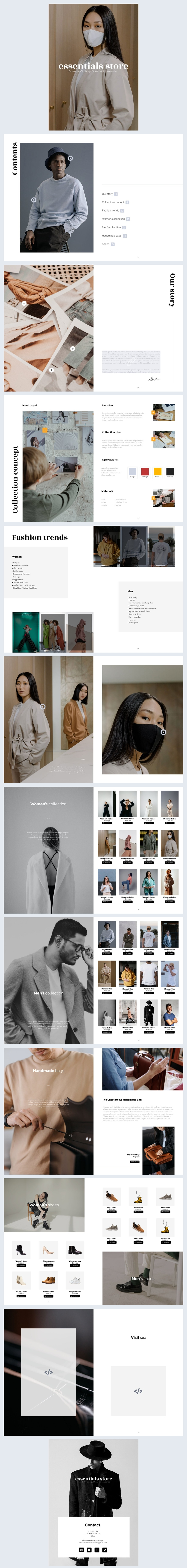 Design de catalogue de mode interactif
