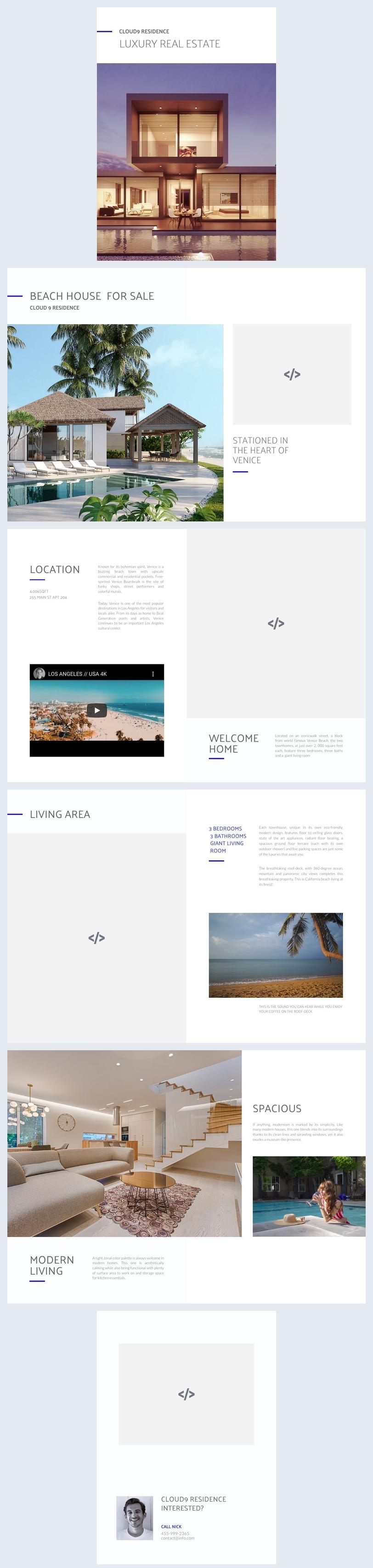 Interactief Vastgoed Brochure Ontwerp Voorbeeld