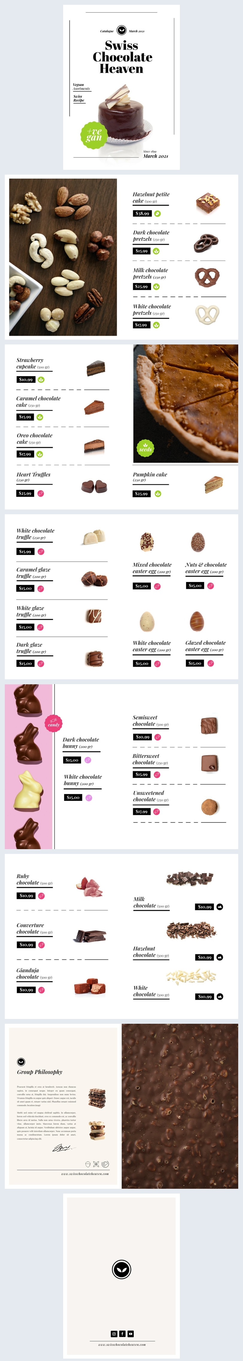 Editable Food Catalogue Design Example