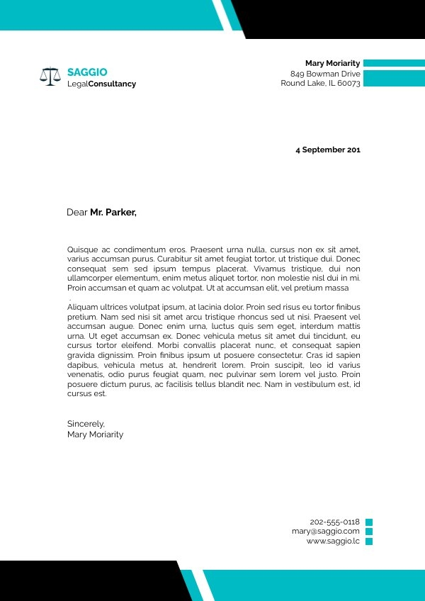 Letterhead Format to Download as PDF Design