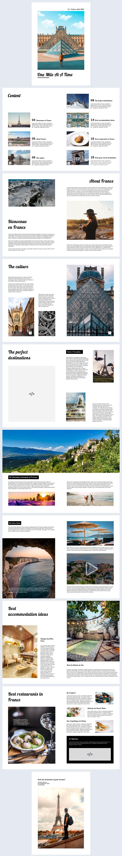 Free Interactive Travel Brochure Design Idea