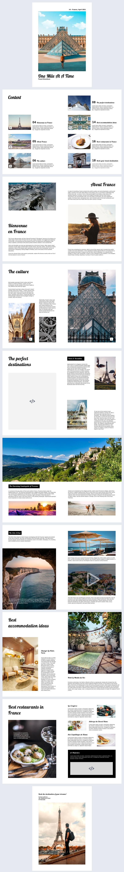 Idea gratuita de diseño interactivo para folleto de viajes