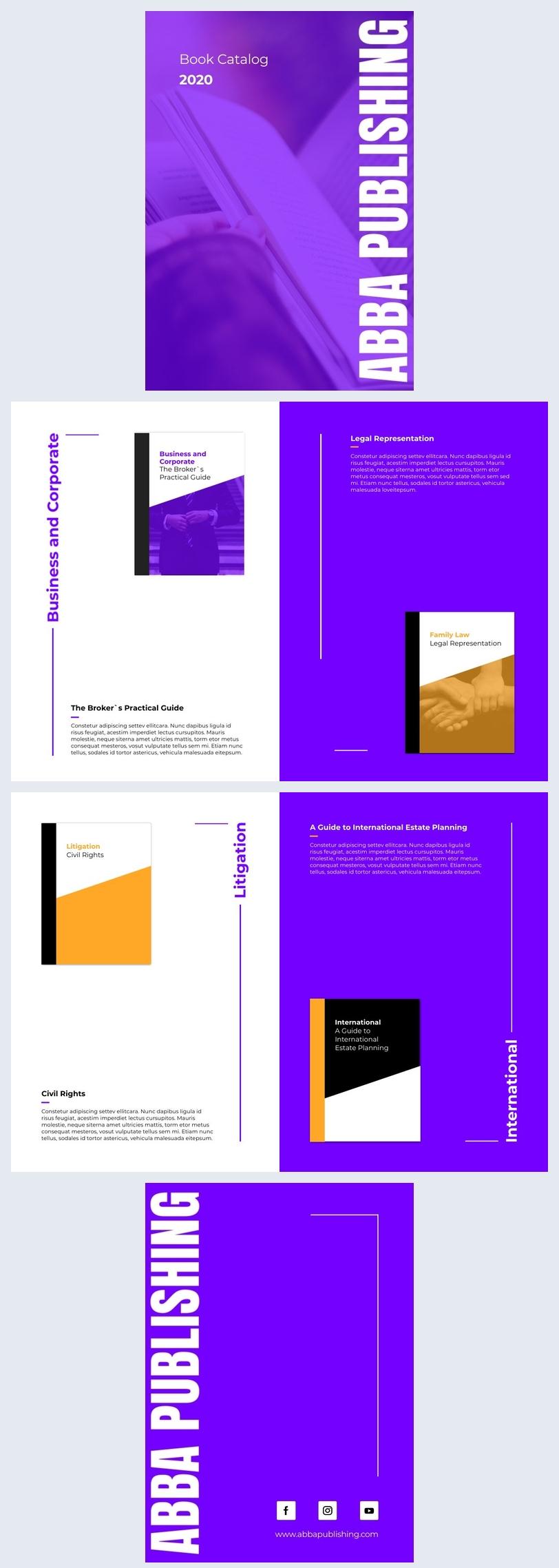 Boekpresentatie Catalogus Ontwerp Voorbeeld