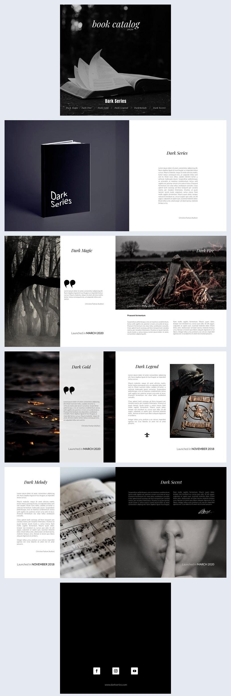 Book Collection Catalog Design Idea