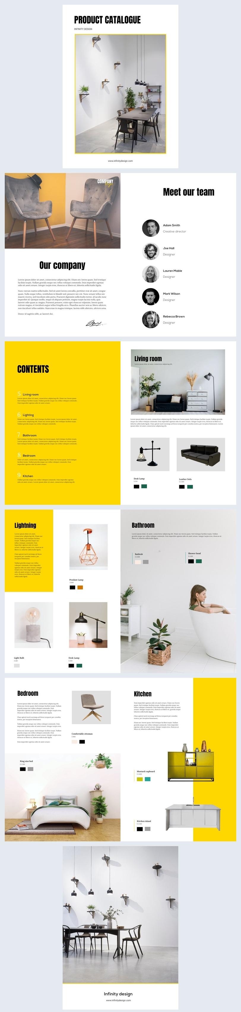 Ideia de Catálogo de Produtos de Design de Interiores