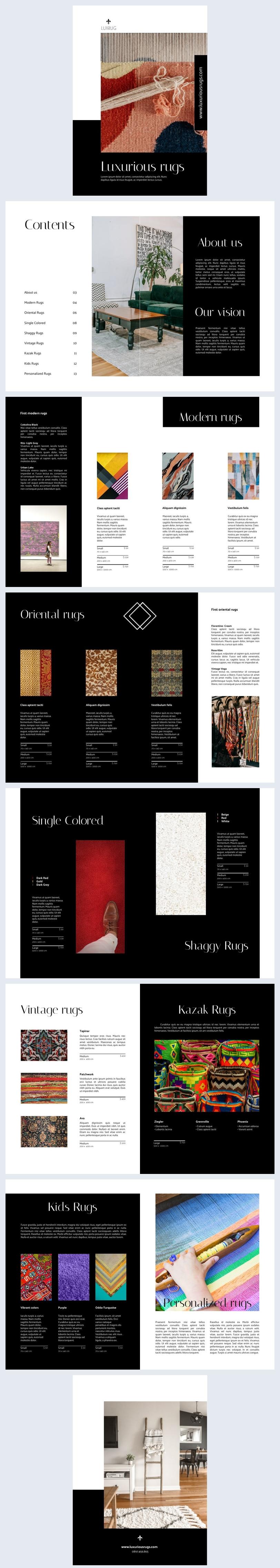 Product Catalog Layout Design Example
