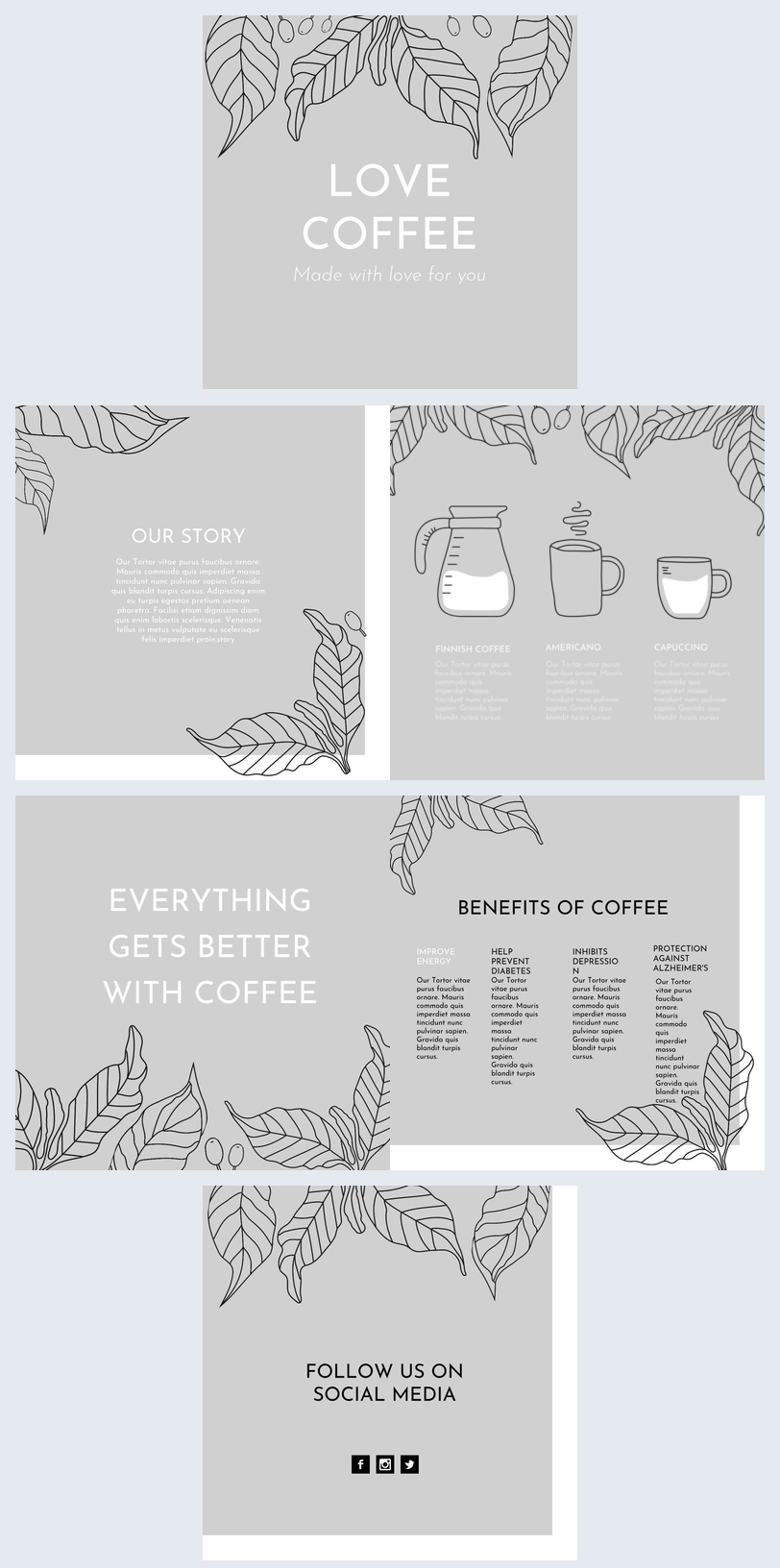 Coffee Shop Brochure Design
