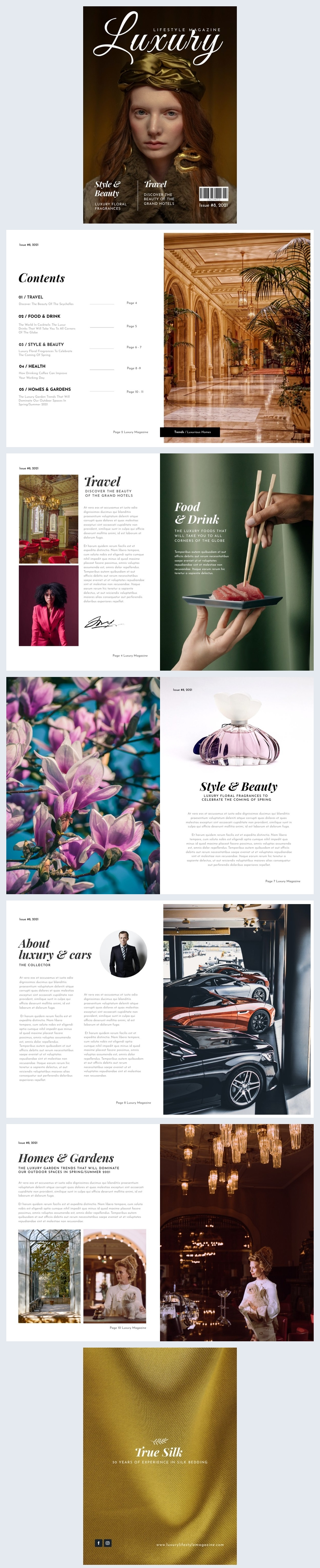 Luxus-Lifestyle-Magazin-Design