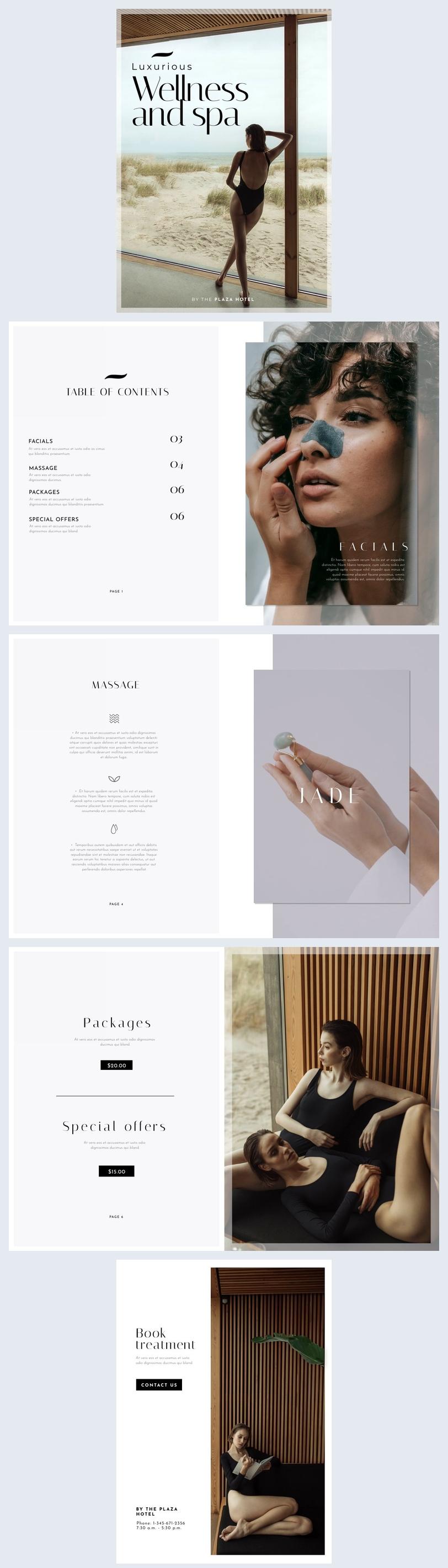 Free Online Lookbook Design Sample