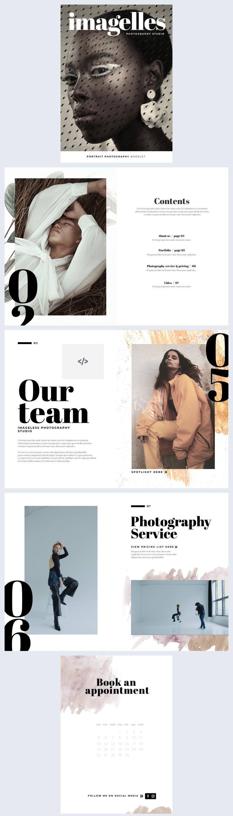 Interaktives Booklet-Layout-Beispiel