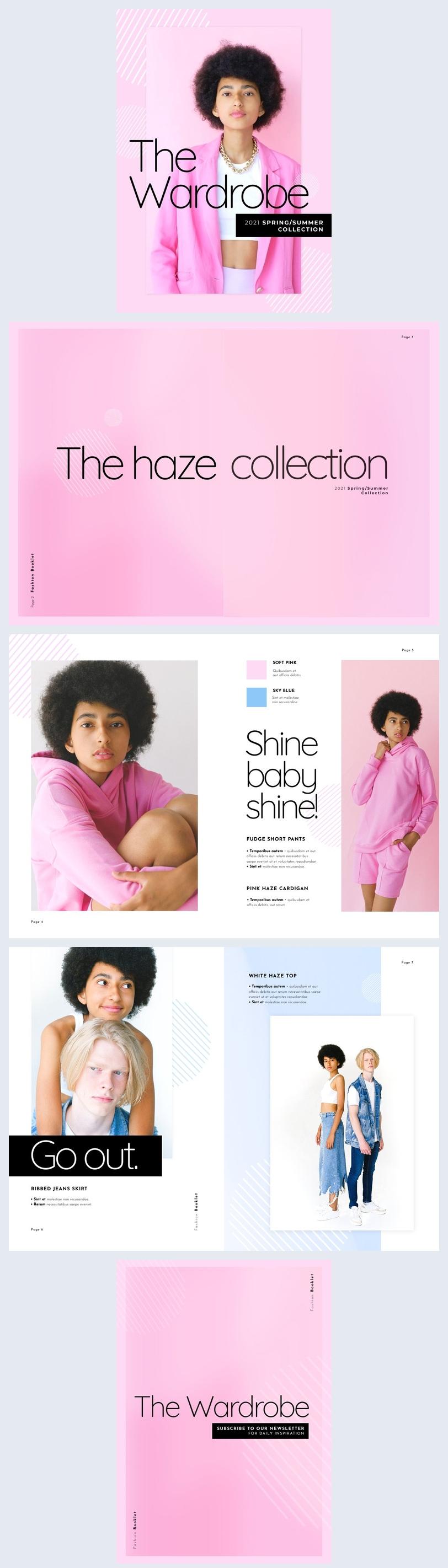 Exemplo de Design de Lookbook de Moda
