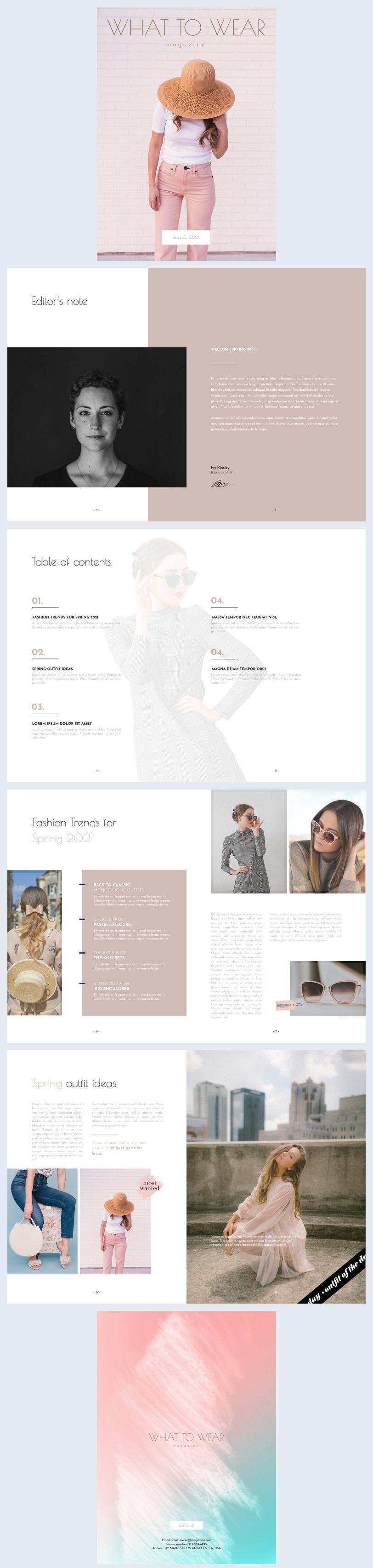 What To Wear Fashion Tijdschrift Ontwerp