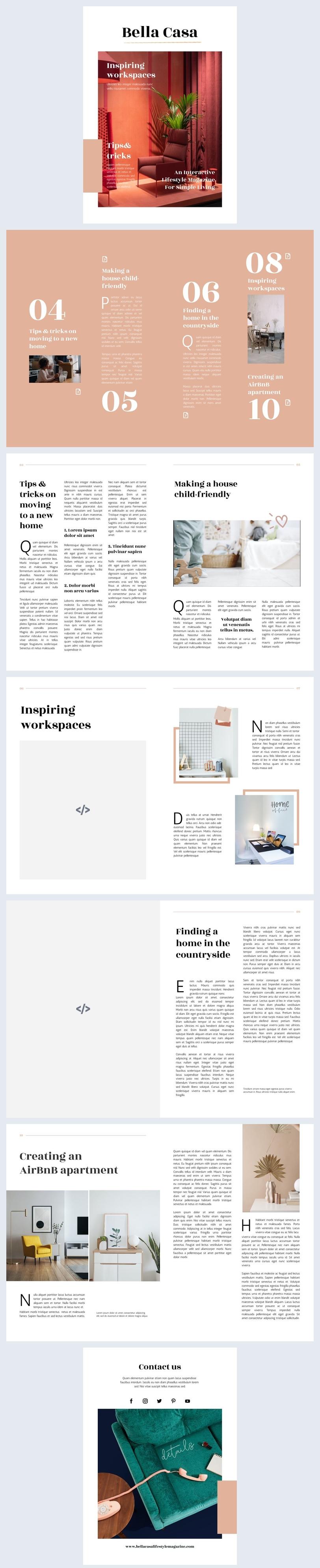 Interactive Lifestyle Magazine Design Sample