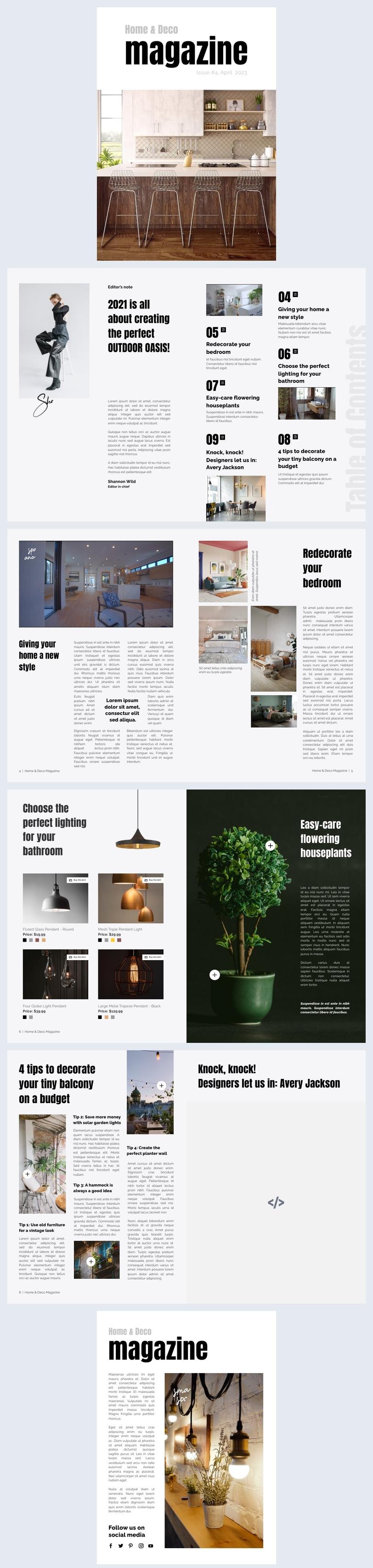 Exemplo de Design de Revista Eletrônica Interativa