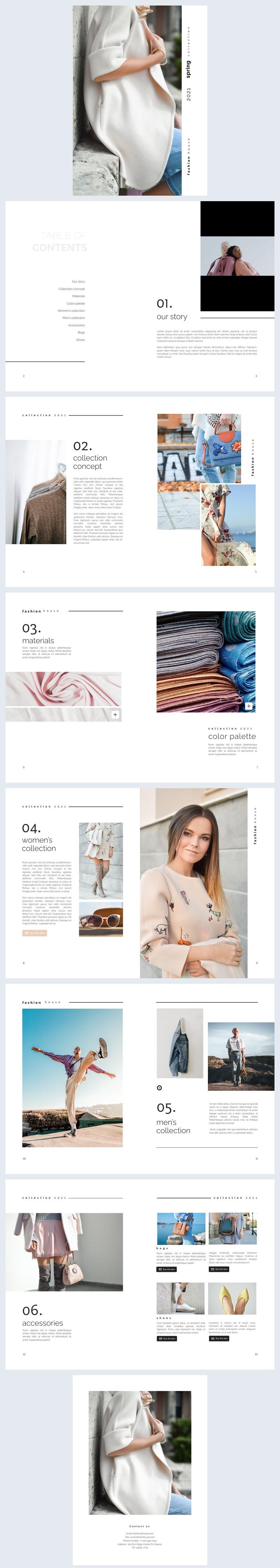 Interactief Mode Tijdschrift Ontwerp