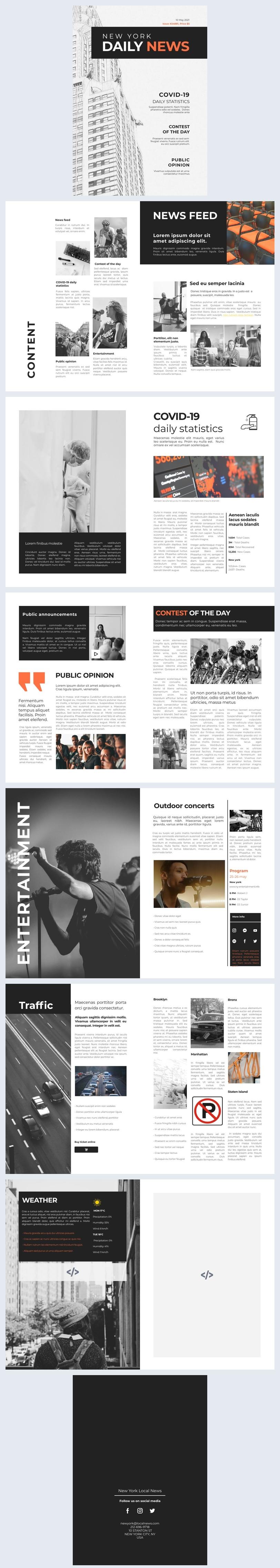 Diseño para revista de noticias interactiva