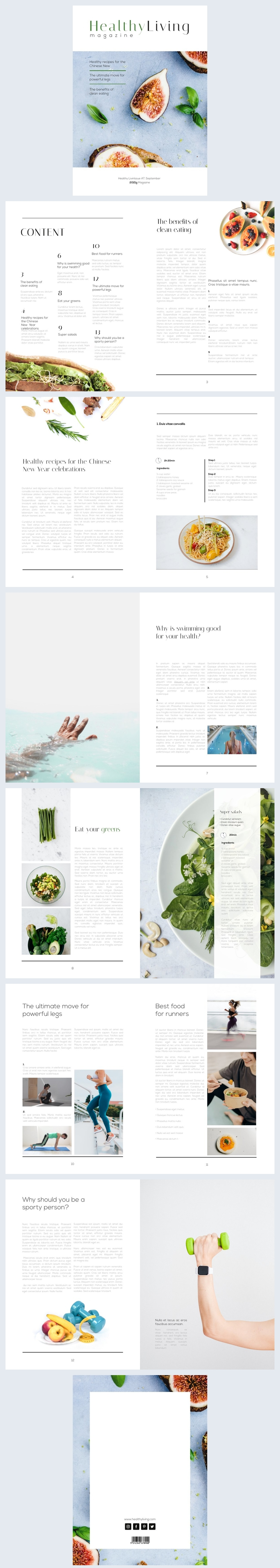 Interaktives Magazin-Design für Gesundes Leben