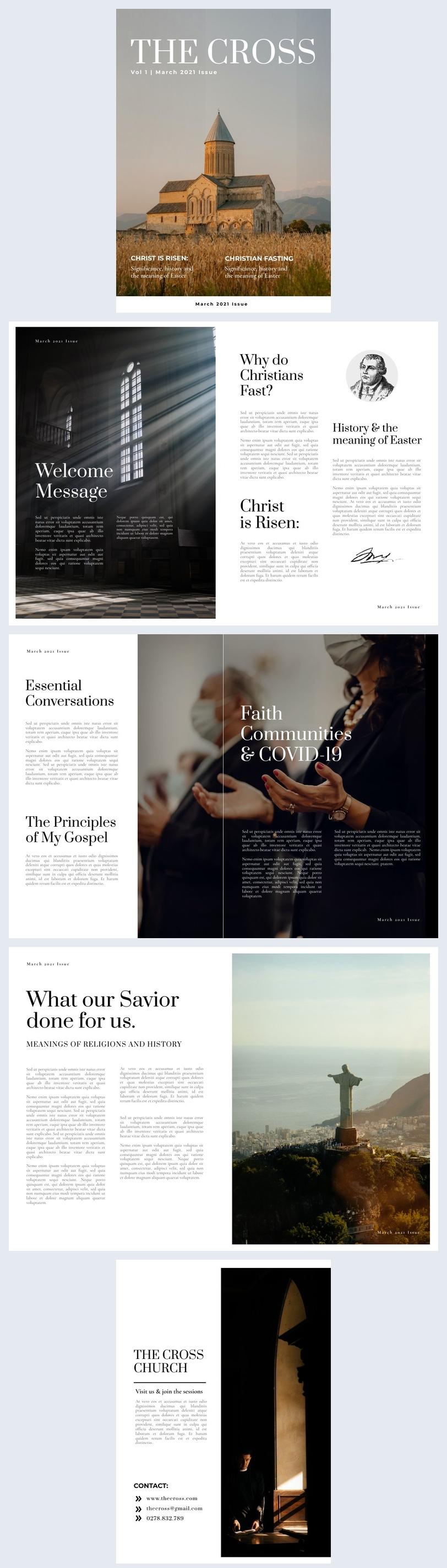 Esempio di grafica per rivista religiosa
