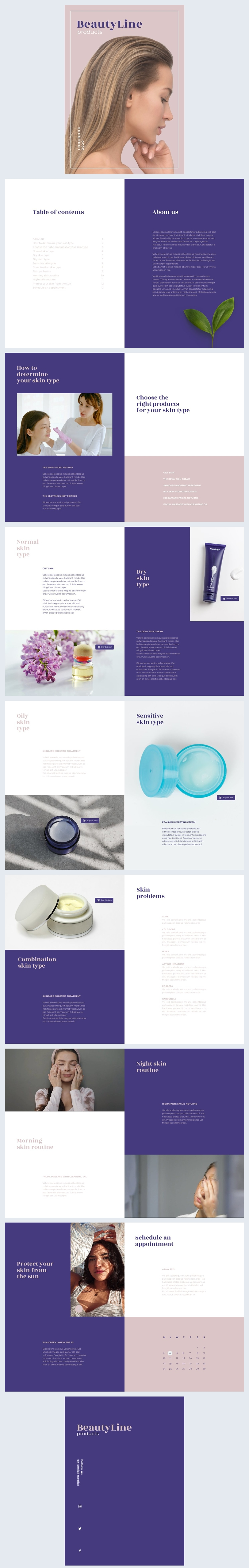Interactive Beauty Products Catalog Design