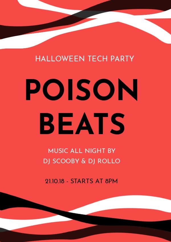 Halloween Party Flyer Example