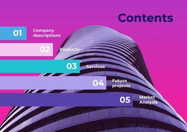 Exemplo de Design de Página de Índice de Negócios