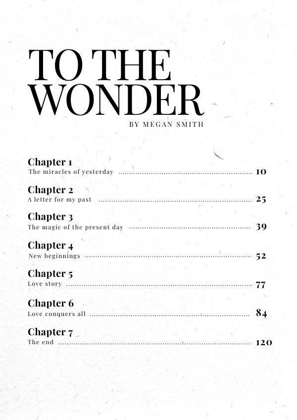Book Inhoudsopgave Ontwerp Idee