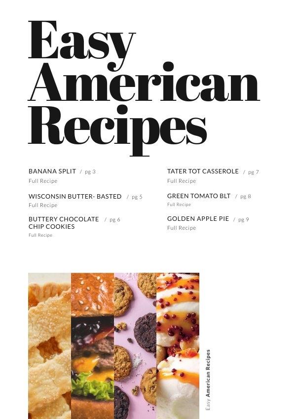 Recepten Inhoudsopgave Pagina Ontwerp