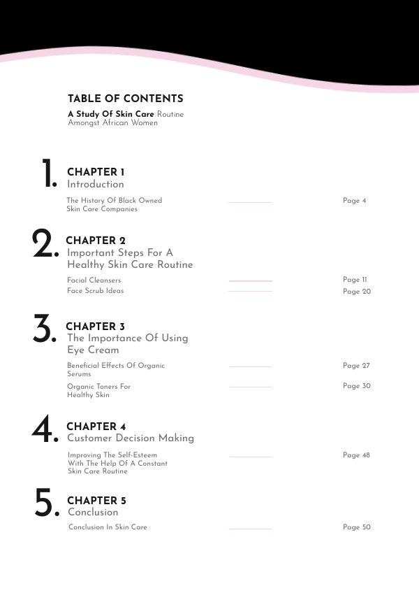 Ejemplo de diseño para página de índice