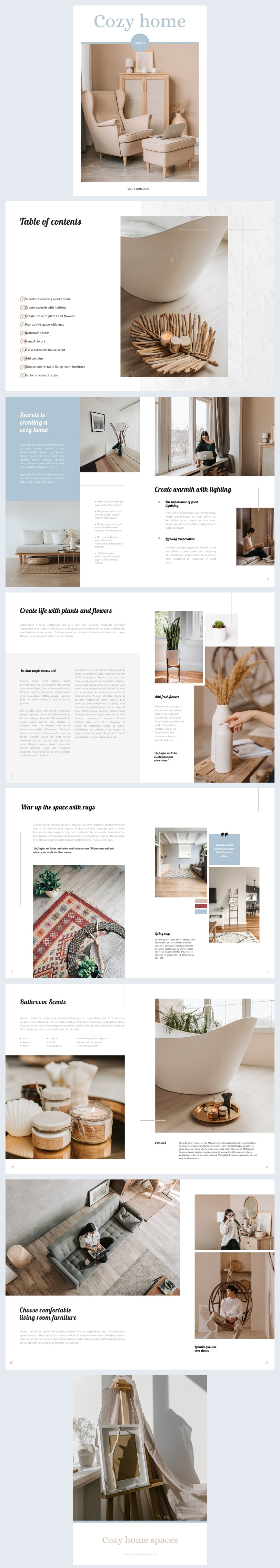 Free Home & Lifestyle Magazine Design Example