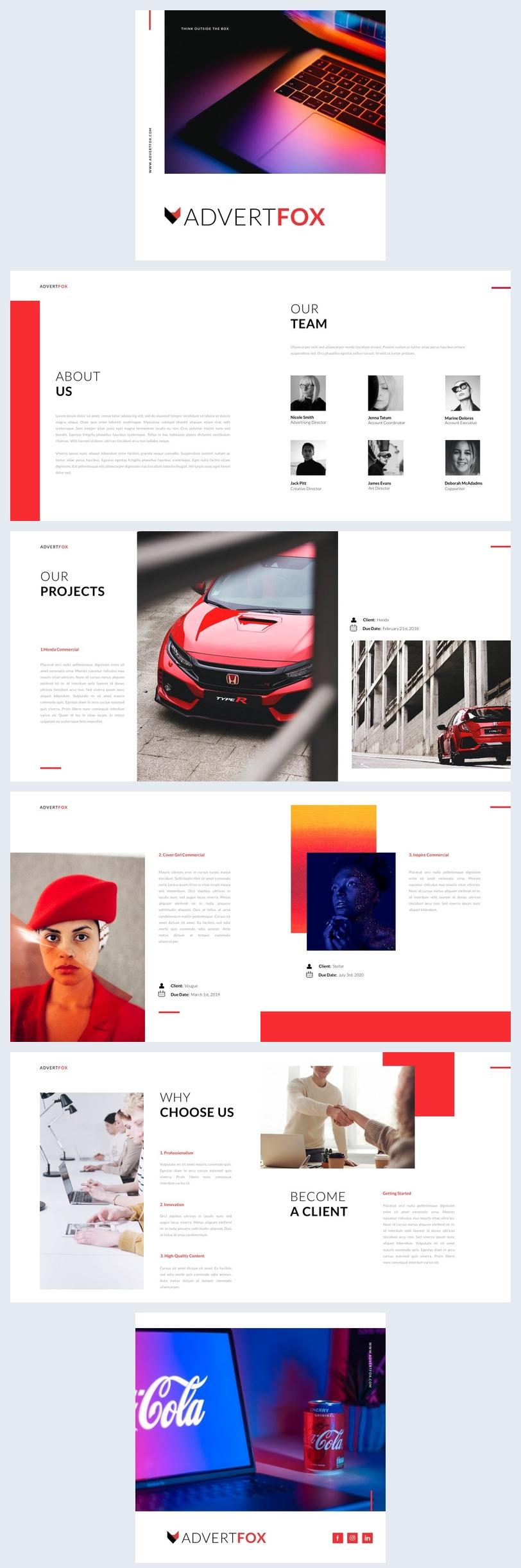Advertising Flip Book Design Example