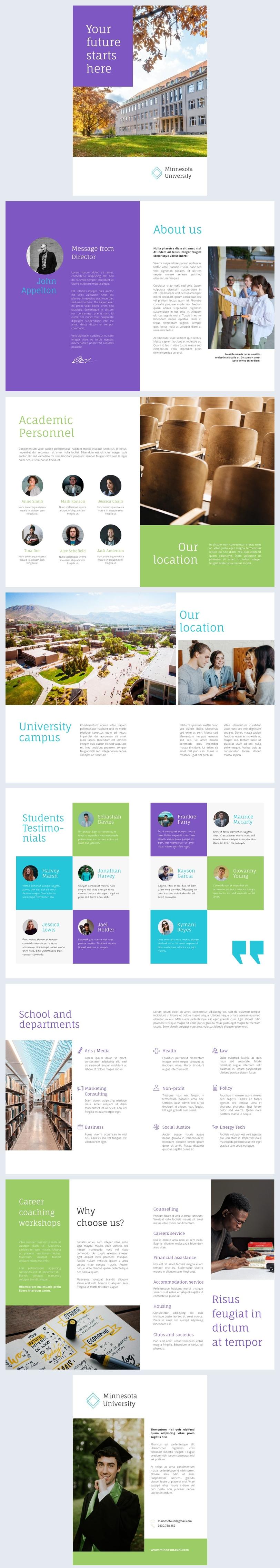 Afdrukbaar Universiteit Flip Book Ontwerp Voorbeeld