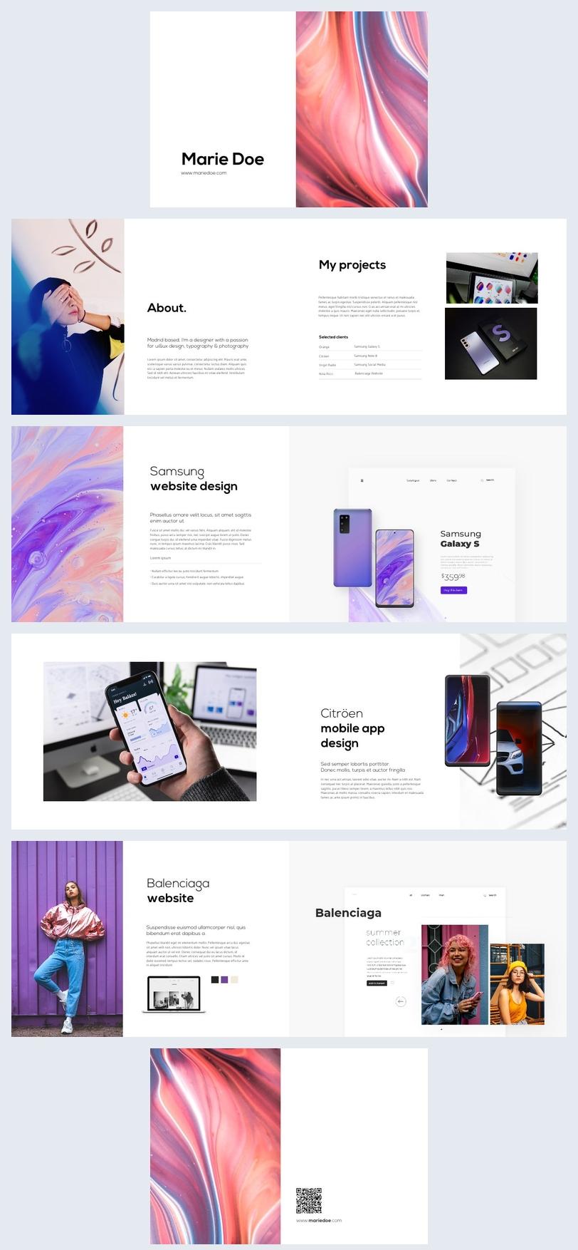Anpassbares Digitales Flipbook-Design für Grafikdesign