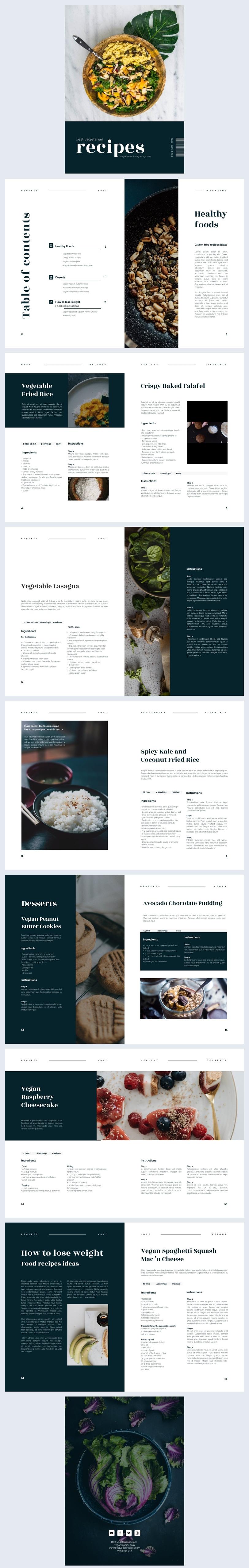 Interactive Vegetarian Magazine Design Example