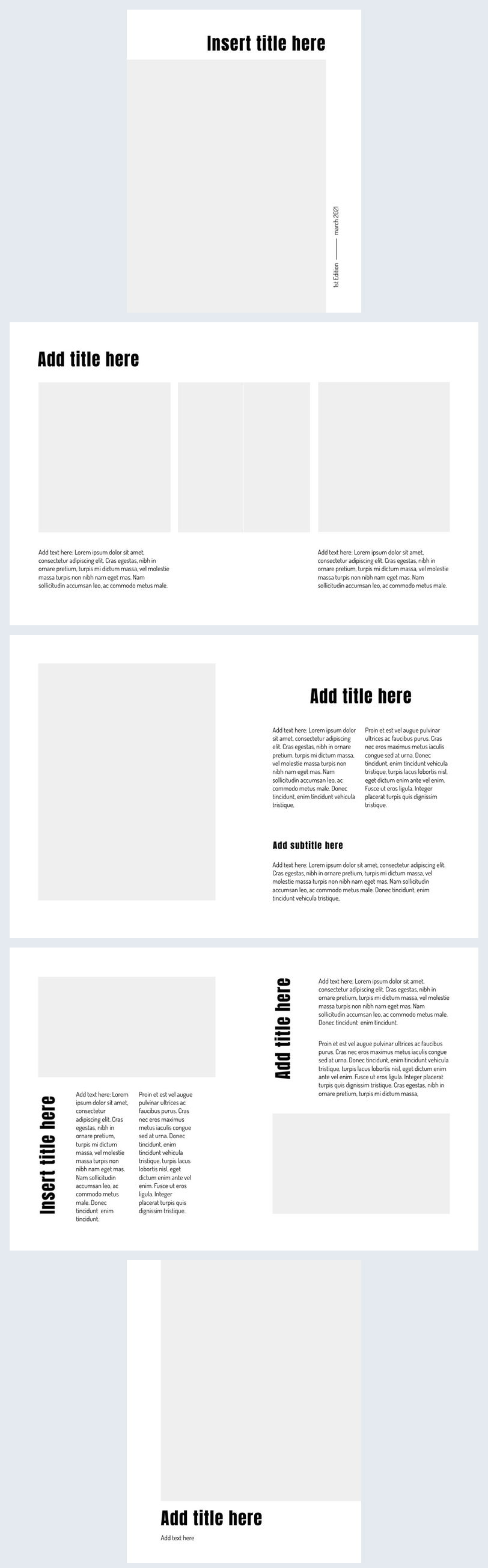 Free Online Blank Flip Book Design Example