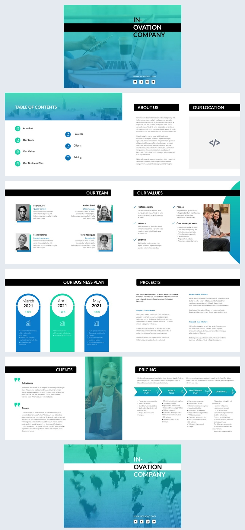 Exemplo de Design de Flipbook de Empresa Interativo