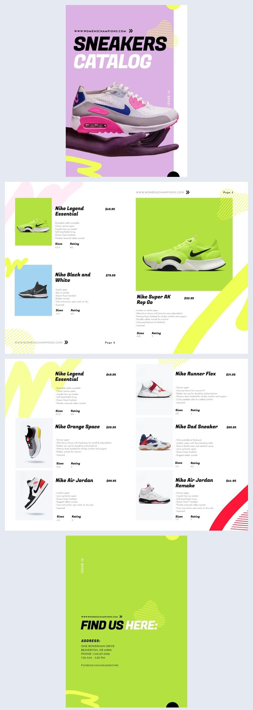 Beispiel für ein automatisiertes Einzelhandels-Produktkatalog-Beispiel-Design