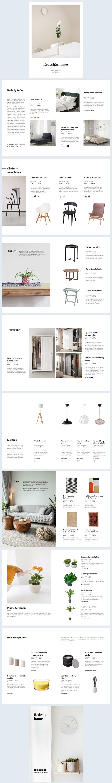 Esempio di grafica per catalogo automatizzato (arredamento per la casa)