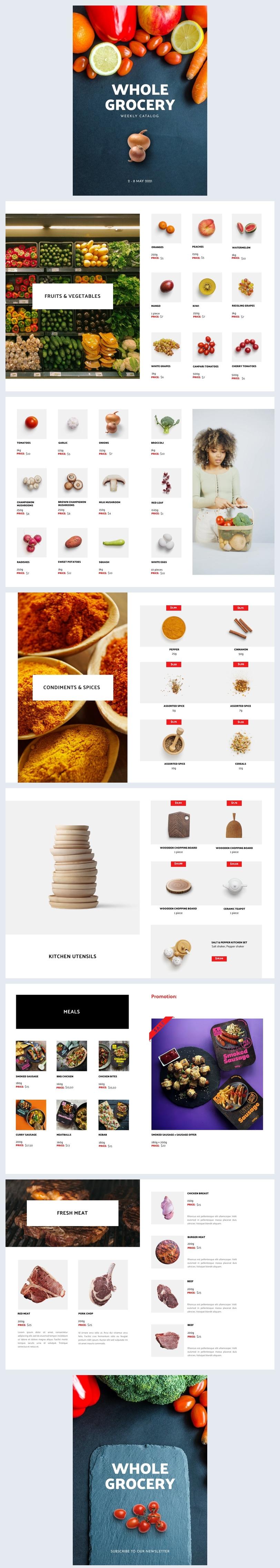 Ejemplo de diseño para catálogo automatizado del supermercado