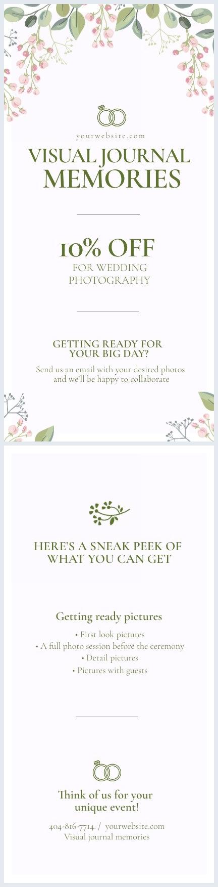 Exemple et design de carte de visite de mariage