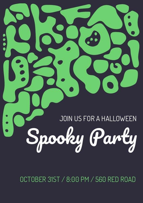 Diseño para volante de fiesta aterradora de Halloween