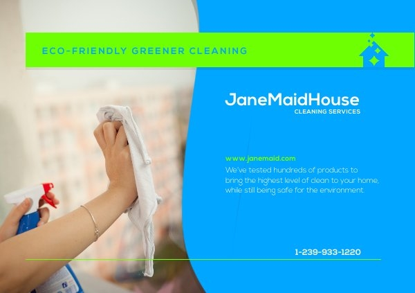 Cleaning Services Postcard Design Example
