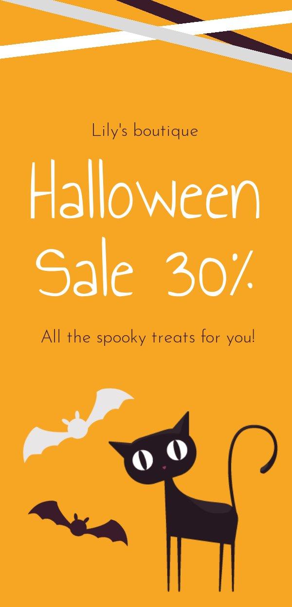 Halloween Sale Flyer Example