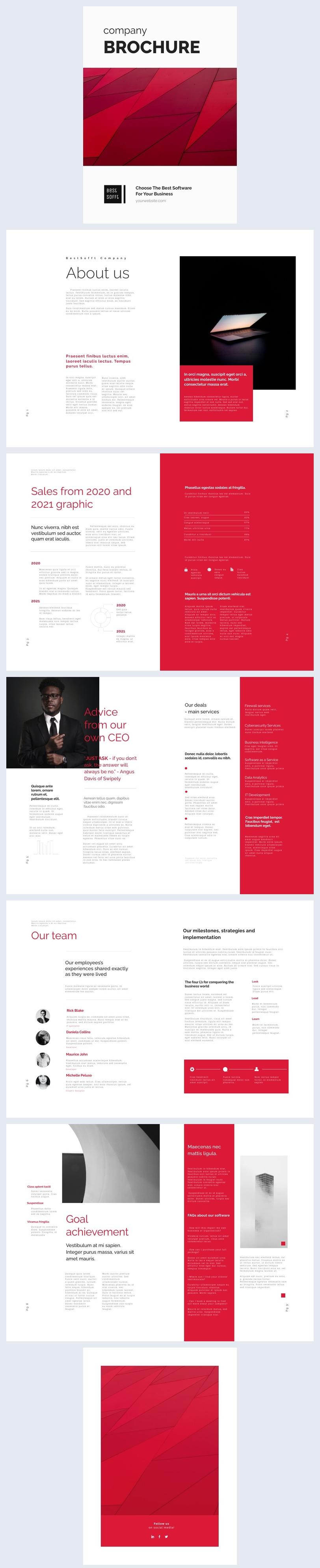 Digitales Unternehmens-Broschüren-Beispiel-Design